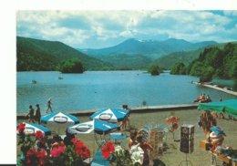 63 Volvic Le Lac Chambon Animée Parasoles  Gervais Fleurs Canoé - Volvic