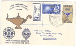 Enveloppe Golden Jubilée Congress 1914 1964 Recommandé Johannesburg Afrique Du Sud - 1921-1960: Période Moderne