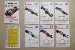 Jeu De 7 Familles Automobiles AUTO-SPORT 42 Voitures Course Grand Tourisme Formule 1 Spider Coupé Ferrari Lamborghi Corv - Playing Cards (classic)