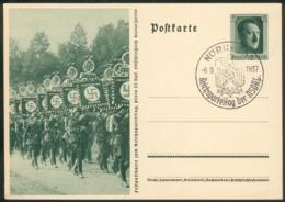 """III. Reich Mi.-Nr.P264/06 Mit SST """"Nürnberg 6.9.1937"""" Pracht - Storia Postale"""
