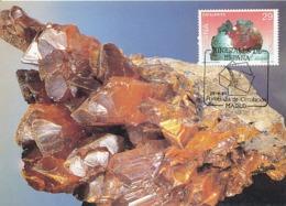 D38246 CARTE MAXIMUM CARD TRIPLE 1994 SPAIN - MINERAL SPHALERITE CP ORIGINAL - Minerals