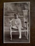 Oude Heel Mooie FOTO -kaart  Van Meisje In SEPIA Door Fotograaf  OMER  D' HAESE  AALST - Identified Persons