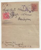 Austria Ported Postal Stationery Letter Card Travelled 1918 Prague To Teplitz B190920 - Impuestos