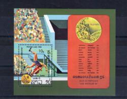 Laos. Bloc Feuillet. Jeux Olympiques D'été à Los Angeles. Lutte - Laos