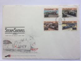 ZIMBABWE 1985 Steam Safaris FDC - Zimbabwe (1980-...)