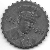*notgeld  Crefeld 15 Pf 1917 Zn Strassebahn Schaffner Kopf  2597.1/F 84.3c - [ 2] 1871-1918 : Duitse Rijk