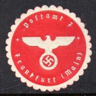 GERMANY WW2 3RD THIRD REICH POSTAMT 7 FRANKFURT (MAIN) POST OFFICE SIEGELMARKE NAZI GERMAN MARQUE SEAL - Cartas