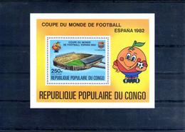 Congo. Bloc Feuillet. Coupedu Monde De Football En Espagne 1982 - Neufs