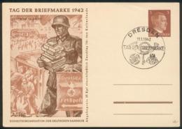 """III. Reich Mi.-Nr.P308/02 Mit SST """"Dresden Tag Der Briefmarke 11.1.1942"""" Feinst - Storia Postale"""