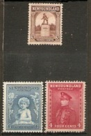 NEWFOUNDLAND 1923 3c, 1932 6c, 1934 4c SG 151, 214, 224 MOUNTED MINT Cat £14.25 - 1908-1947