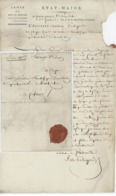 """Armée Du Rhin Et Moselle État-Major Ribeauvillé Adjudant Bellegarde """"Réquisition"""" An 5 - 2.4.1797 - Marcophilie (Lettres)"""