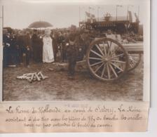 LA REINE DE HOLLANDE AU CAMP DE SATORY  BRUIT DU CANON PIÈCES DE 75  18*13CM Maurice-Louis BRANGER PARÍS (1874-1950) - Personalidades Famosas