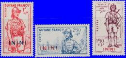 Inini 1941. ~ YT 48 à 50* - Défense De L'Empire - Inini (1932-1947)