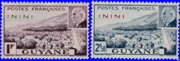 Inini 1941. ~ YT 51 à 52* - Maréchal Pétain - Inini (1932-1947)