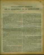 ANNUAIRE - 71 - Département Saone Et Loire - Année 1930 - édition Didot-Bottin - 72 Pages - Telefonbücher