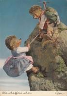 Mecki Hedggehog Climbing Mountaineering Old Postcard Bergsteiger - Mecki