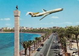 Libyan Arab Airlines Libya B 727 Flying Over Tripoli - 1946-....: Era Moderna