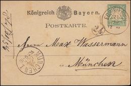 Bayern P 8II Wappen 10 Pf. Grün EDENKOBEN 24.10.78 Nach MÜNCHEN I - 25.10.78 - Ganzsachen