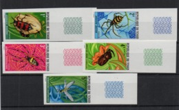 !!! PRIX FIXE : TCHAD, SERIE INSECTES N°245/249 NON DENTELEE NEUVE ** - Chad (1960-...)