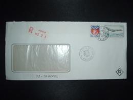 LR TP AVION MYSTERE 20 2,00 + BLASON DE PARIS 0,30 OBL.20-9 1968 PARIS 17 - Marcophilie (Lettres)