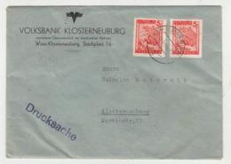 Volksbank Klosterneuburg Company Letter Cover Travelled 194? B190920 - 1945-.... 2a Repubblica
