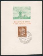 """Deutsche Post In Den Niederlanden 3 Pfg. Adolf Hitler Mi.-Nr.782 Mit Stempel """"DEN HAAG 20.9.1942"""" - Varietà & Curiosità"""