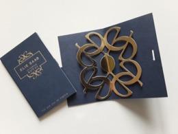 """Elie SAAB    """"  Le Parfum ROYALE....""""  Carte Double  Voir  Photo   !! - Modernas (desde 1961)"""