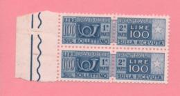 2 Marche Da Bollo - Per Pacchi - £ 100 - Nuove - Italië