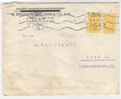 E. Binzer-Noris, Zahn & Cie, Wien Company Letter Cover Travelled 1924 B190920 - Cartas