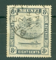 Brunei: 1924/37   Brunei River View   SG72     8c   Grey-black     Used - Brunei (...-1984)