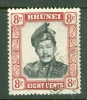 Brunei: 1964/72   Sultan Omar Saifuddin  SG123   8c   Black & Crimson-lake  Used - Brunei (...-1984)
