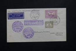 INDES NÉERLANDAISES - Enveloppe Par Vol Banjermasin / Tarakan En 1937 , Affranchissement Plaisant - L 42430 - Nederlands-Indië