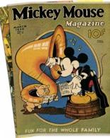 Mickey Mouse Magazine March 1936 Fun For The Whole Family Mickey Cochon RV - Comics