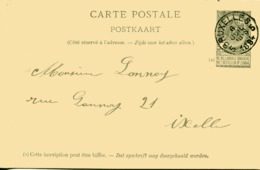 BELGIQUE - 1894 - Entier Postal N°83 Envoyé De BRUXELLES à IXELLE - Stamped Stationery