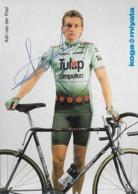 CARTE CYCLISME ADRI VAN DER POEL SIGNEE TEAM TULIP 1991 PUBLICITE KOGA MIYATA - Radsport