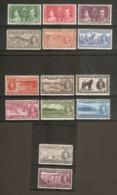 NEWFOUNDLAND 1937 CORONATION SETS SG 254/267 MOUNTED MINT Cat £65 - 1908-1947