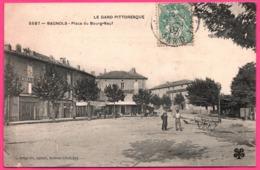 Bagnols Sur Cèze - Cèse - Place Du Bourg Neuf - Tailleur - Hôtel Du Louvre - Animée - Edit. C. ARTIGE - 1907 - M.T.I.L - Bagnols-sur-Cèze