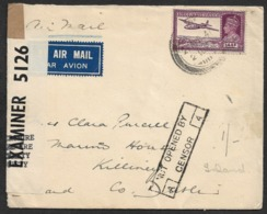 1941 INDIA AIRMAIL To IRELAND- Hs NOT OPENED BY / CENSOR - To KILLENEY, IRELAND - India (...-1947)
