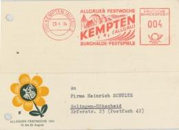 AFS 13b Kempten Allgäu Festwoche Burghalde Festspiele - Illustrierte Postkarte - Aktenlochung - BRD