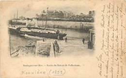 62 - Boulogne Sur Mer - Sortie Du Bateau De Folkestone - Animée - Précurseur - Oblitération Ronde De 1899 - Voir Scans R - Boulogne Sur Mer