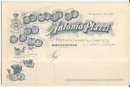 CART.POSTALE PUBBLICITARIA A. PLAZZI FABBRICA DI CARROZZE -BAGNACAVALLO -FG - Pubblicitari