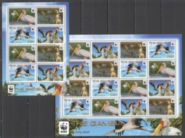 W902 2011 THE GAMBIA WWF BIRDS YELLOW-BILLED STORK #6499-502 !!! MICHEL 38.4 EURO !!! 1KB+1SH MNH - Other