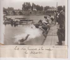 LA SIX HEURES A LA NAGE LE DEPART   18*13CM Maurice-Louis BRANGER PARÍS (1874-1950) - Guerra, Militares