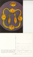 CPA DIFFERENT MATERIALS, GOLD, JEWELRIES, NECKLACE, EARRINGS AND BROOCH - Cartoline