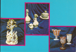 CPA DIFFERENT MATERIALS, PORCELAIN AND GLASS ITEMS, BANAT MUSEUM - Cartoline Porcellana