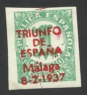 Spain, Malaga 1 C. 1937, MH - Emissions Nationalistes