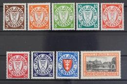 Danzig, MiNr. 289-297, Postfrisch / MNH - Danzig