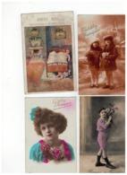 20 Oude Wenskaarten Met Kindjes (geschreven En Afgestempeld Begin 1900) Port 2,30€ - Cartes Postales