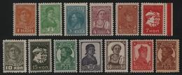 Russia / Sowjetunion 1927 - Mi-Nr. 365-377 A * - MH - Freimarken / Definitives - 1923-1991 URSS