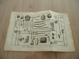Rare Gravure Estampe Originale Diderot D'Alembert 1778 Armes Es Turcs Et Autres Machines E Guerre - Documenti
